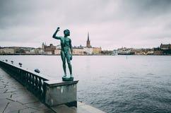 Riddarholmen в Стокгольме стоковое фото rf