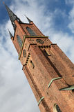Riddarholmen church. Tower of the famous Riddarholmen church in Stockholm, burial place of the Swedish kings Stock Photos