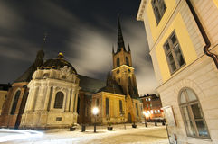 Riddarholmen Church. Captured by night in Stockholm, Sweden Stock Photography