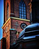 Riddarholmen Church. The clock tower of Riddarholmen church Stock Photos