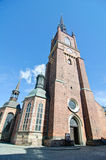 Riddarholmen Church (Riddarholmskyrkan). Located on Riddarholmen island, this church is the burial place of the Swedish monarchs- Sweden, Stockholm Stock Images