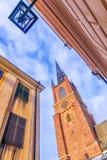 Riddarholmen Church in Stockholm, Sweden Stock Photography