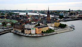 The Riddarholmen island, Stockholm, Sweden Stock Photography