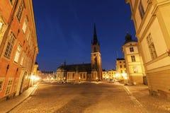 Riddarholmen kyrka i Stockholm arkivfoto