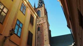 Riddarholmen kyrka i Stockholm sweden stock video