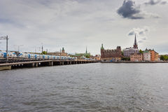 Riddarholmen. Panoramic view from the City Hall Royalty Free Stock Image