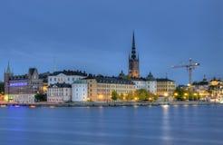 Riddarholmen, piccola isola a Stoccolma centrale. fotografie stock
