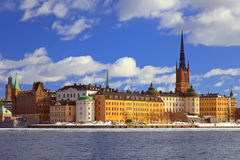 Riddarholmen Stockholm. Riddarholmen, small island in central Stockholm. Sweden Royalty Free Stock Image