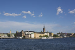Riddarholmen, Stockholm. View of Riddarholmen in central Stockholm Royalty Free Stock Photos