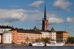 Riddarholmen, Stockholm. The island Riddarholmen in Stockholm Stock Photos