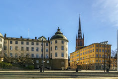Riddarholmen, Stockholm. Riddarholmen is a small islet in central Stockholm, Sweden Stock Photo