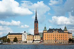 Riddarholmen. STOCKHOLM SWEDEN July 15, 2015. View of  the island of Riddarholmen Stock Photos