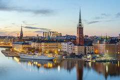 Riddarholmen, Stockholm. View of Riddarholmen from the Sodermalm island in Stockholm, Sweden Stock Image