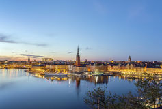 Riddarholmen, Stockholm. View of Riddarholmen from the Sodermalm island in Stockholm, Sweden Stock Images