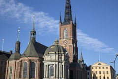 Riddarholmskyrkan Church; Riddarholmen Island; Stockholm. Riddarholmskyrkan Church in Riddarholmen Island; Stockholm; Sweden; Europe Royalty Free Stock Photo