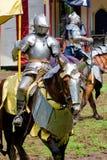 Ridder bij renaissancemarkt royalty-vrije stock foto's