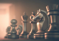 Ridder Chess Royalty-vrije Stock Afbeeldingen
