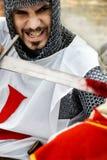 Ridder die zijn tegenstander doodt Stock Fotografie