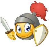 Ridder emoticon vector illustratie