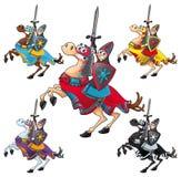 Ridder en paard. Royalty-vrije Stock Afbeeldingen