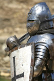 Ridder in glanzend pantser/historisch Royalty-vrije Stock Foto
