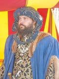 Ridder in kleurrijke tent bij Fort George Stock Foto's