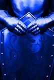 Ridder - met blauwe kleur Stock Foto