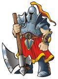 Ridder met een bijl vector illustratie