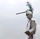 Ridder met een zwaard Stock Afbeeldingen