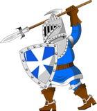 Ridder met spear Stock Foto