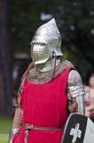 Ridder in middeleeuws festival royalty-vrije stock afbeeldingen