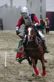 Ridder op horseback Royalty-vrije Stock Afbeeldingen
