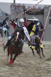 Ridder op horseback Stock Foto