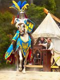 Ridder op paard Royalty-vrije Stock Foto