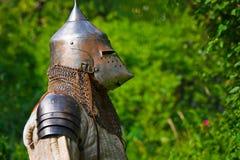 Ridder in pantser royalty-vrije stock fotografie
