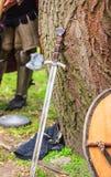 Ridder Sword en Schild Royalty-vrije Stock Afbeelding