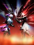 Ridder versus samoeraien vector illustratie