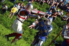 Ridderlijke slag Stock Foto