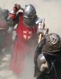 Ridderlijke strijd Stock Afbeeldingen