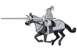 Ridders in de toernooien royalty-vrije illustratie