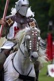 Ridders die warwick kasteel Engeland het UK jousting Stock Fotografie