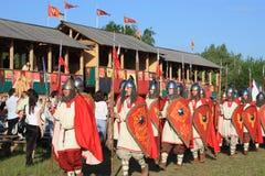 Ridders in een pantser Royalty-vrije Stock Afbeeldingen