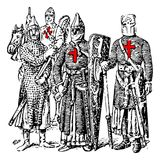 Ridders Templar royalty-vrije illustratie