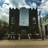 Ridders van Columbus, Calhoun St Charleston, Sc stock foto's