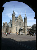 Ridderzaal, Binnenhof, the Hague. The Ridderzaal (Knights Hall) is located inside the old the dutch parliament buildings (Binnenhof royalty free stock photos