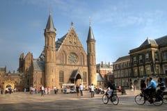 Ridderzaal em Binnenhof, Haia, Países Baixos Imagem de Stock