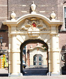 Ridderzaal Gate, Binnenhof Entrence, the Hague. Gate of The Ridderzaal (Knights Hall) is located inside the old the dutch parliament buildings (Binnenhof Royalty Free Stock Photo
