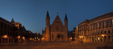 The Ridderzaal by night Royalty Free Stock Photos