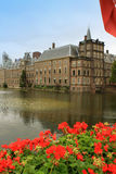 Ridderzaal w Binnenhof z Hofvijver jeziorem Zdjęcie Royalty Free