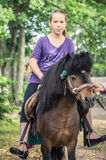 Ridding girl Stock Photography